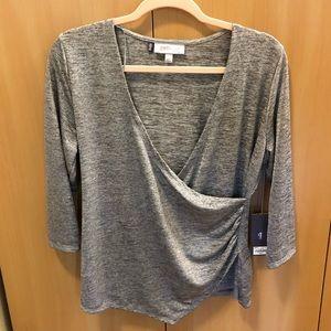 Jennifer Lopez Silver print blouse size petite L